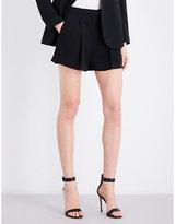 Theory Tohni high-rise crepe shorts