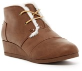 Toms Faux Shearling Wedge Boot (Little Kid & Big Kid)