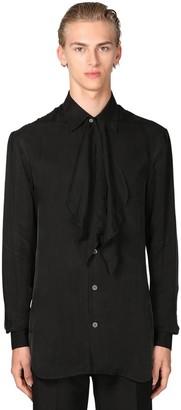 Loewe Self-tie Collar Cupro Shirt
