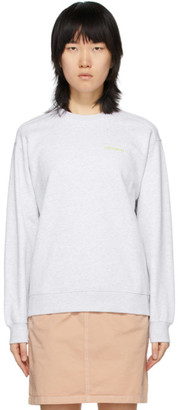 Carhartt Work In Progress Grey Script Embroidery Sweatshirt