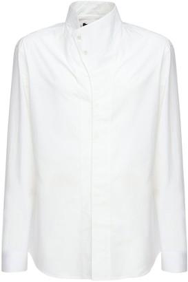 Balmain Cotton Shirt W/ Asymmetric Collar