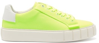 Primury - Dyo Mesh And Leather Trainers - Mens - Yellow