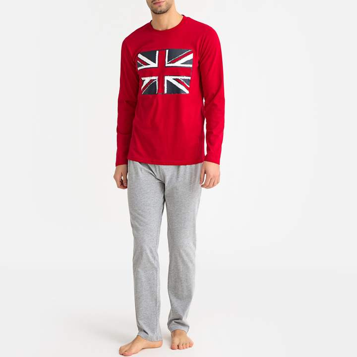 La Redoute COLLECTIONS Cotton Union Jack Pyjamas with Long Sleeves
