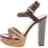 Lanvin Chain-Embellished Platform Sandals
