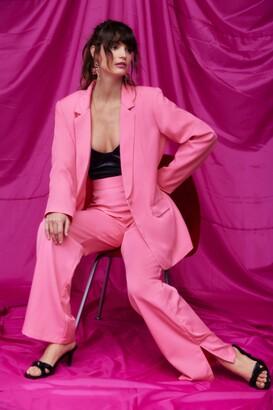 Nasty Gal Womens Oversized Blazer - Pink - 4
