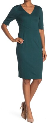Trina Turk Locale V-Neck Sheath Dress