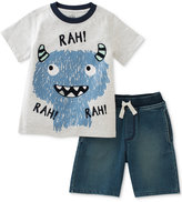 Kids Headquarters 2-Pc. Rah Monster T-Shirt and Shorts Set, Baby Boys (0-24 Months)