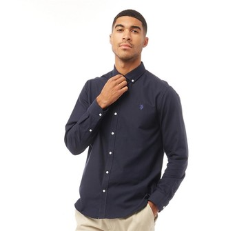 U.S. Polo Assn. Mens Core Oxford Shirt Navy Blazer
