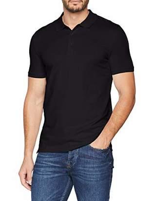 Celio Men's Letiptop Polo Shirt, White Blanc, Large