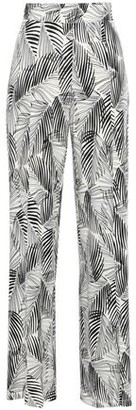 Tart Collections Printed Stretch-modal Jersey Wide-leg Pants
