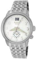 Roberto Bianci Men's 1856DIA_WHT Diamond Dual-Time Zone Date Watch