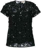 MICHAEL Michael Kors floral appliqué lace blouse