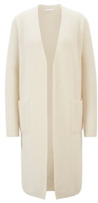 HUGO BOSS Long open-front cardigan in an alpaca blend
