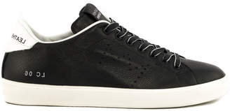 Leather Crown Black Leather Low Top Sneakers