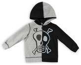 Amy Coe Infant Boys' Color Block Skull Hoodie - Sizes 12-24 Months