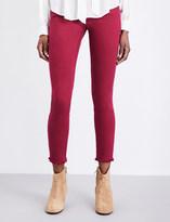 True Religion Casey skinny low-rise frayed-hem jeans