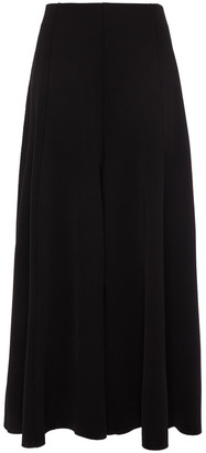 The Row Mildro Cropped Stretch-knit Wide-leg Pants