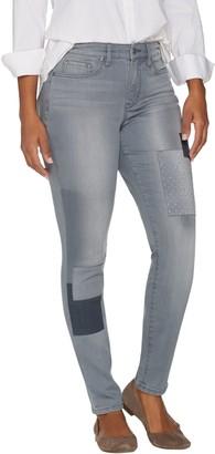 Martha Stewart Petite Patchwork 5-Pocket Ankle Jeans