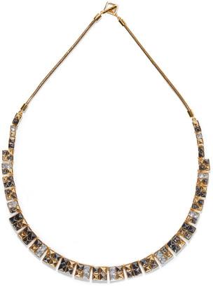 Noir 14-karat Gold-plated Crystal Necklace