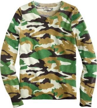 J.Crew Camo Cashmere Crewneck Sweater