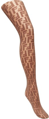 Fendi Logo Embroidered Tights