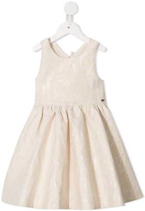 Tartine et Chocolat Bow Pattern Flare Dress