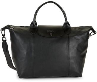 Longchamp Leather Top Handle Bag