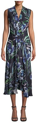 Nicole Miller High-Low Dress (Blue Mirage) Women's Clothing