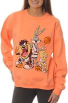 Asstd National Brand Space Jam Juniors' Looney Tunes Tune Squad Group Shot Neon Crewneck Graphic Sweatshirt