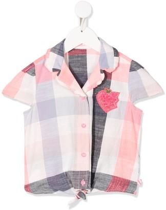 Billieblush Plaid Embroidered Shirt