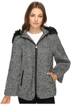 Betsey Johnson Fashion Cape w/ Fur Hood