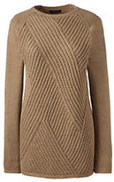 Lands' End Women's Ribbed Tunic Sweater-Vicuna Heather