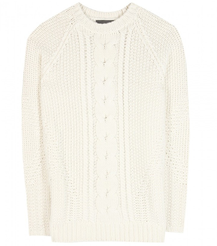 The Row Tesia silk and cashmere-blend sweater