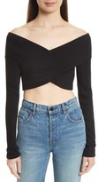 Opening Ceremony Women's Jersey Off The Shoulder Crop Top