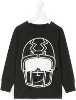 Stella McCartney Gene helmet print top - kids - Cotton/Polyester - 3 yrs