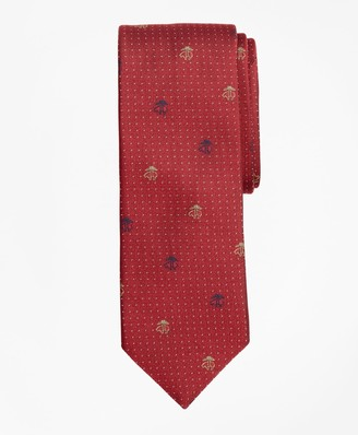 Brooks Brothers Dotted Fleece Tie