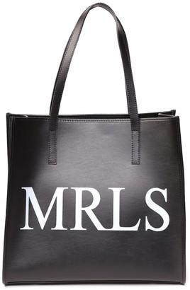 Marc Ellis Black Shirley Leather Shopping Bag