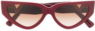 Valentino Eyewear Rockstud cat-eye frame sunglasses