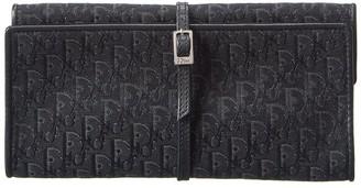 Christian Dior Black Trotter Canvas Case