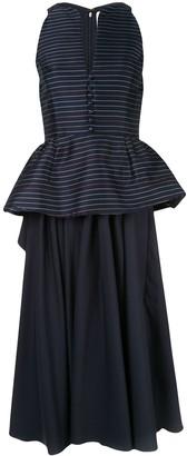 Rosie Assoulin Long Peplum Dress