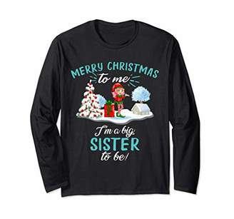 Christmas Big Sister Pregnancy Announcement Baby 2020 Long Sleeve T-Shirt