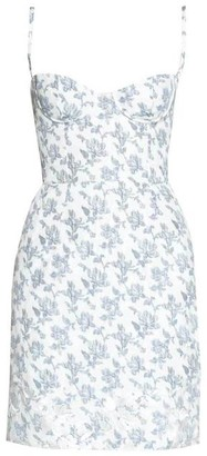 Brock Collection Bustier Floral Mini Dress