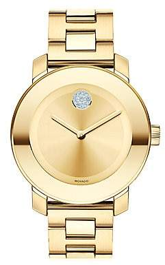 Movado Women's BOLD Crystal & Goldtone Stainless Steel Bracelet Watch