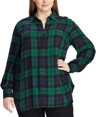 Chaps Plus Size Plaid Long Sleeve Shirt
