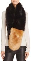 Aqua Faux Fur Stole Scarf- 100% Bloomingdale's Exclusive