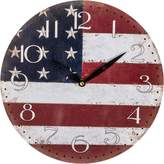 Casa Uno Stars & Stripes Wall Clock, 28.8cm