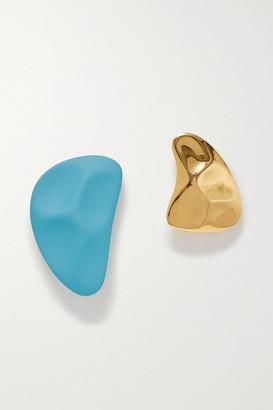 Monica Sordo Nausheen Shah X Nausheen Shah x Clausina Coated Gold-plated Earrings