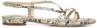 Sam Edelman Teale Flat Snakeskin-Embossed Slingback Sandals