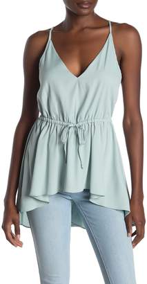 Rachel Roy Storm V-Neck Tie High/Low Camisole