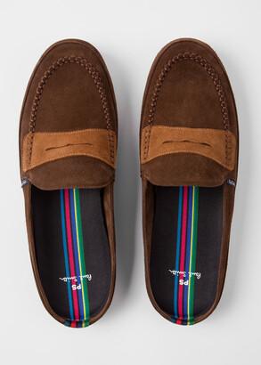 Paul Smith Men's Dark Brown Suede 'Nemean' Slippers